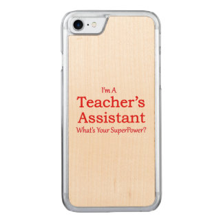 Teacher's Assistant Carved iPhone 7 Case