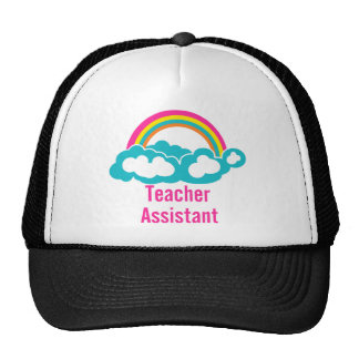 Teacher's Assistant Cloud Rainbow Trucker Hat