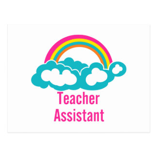 Teacher's Assistant Cloud Rainbow Postcard