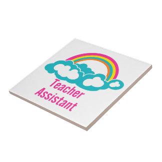 Teacher's Assistant Cloud Rainbow Tiles