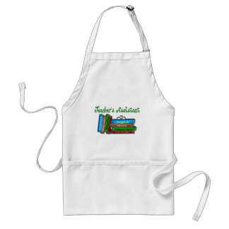 "Teacher's Assistant Gifts ""Stack of Books"" Adult Apron"
