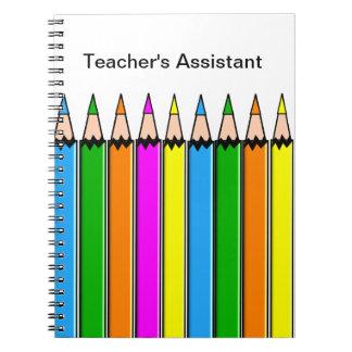 Teacher's Assistant Notebook Colored Pencils