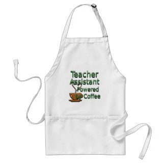 Teacher's Assistant Powered by Coffee Adult Apron