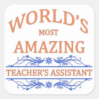 Teacher's Assistant Square Sticker