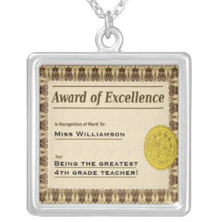 Teachers Award of Excellence Necklace
