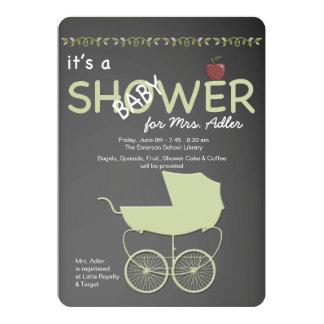 "Teacher's Baby Shower Invitation 5"" X 7"" Invitation Card"