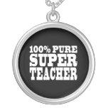 Teachers Birthday Parties 100% Pure Super Teacher Personalized Necklace