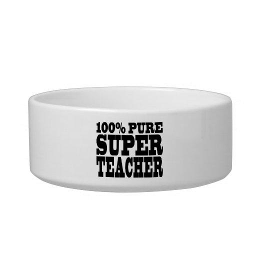 Teachers Birthday Parties 100% Pure Super Teacher Cat Food Bowl