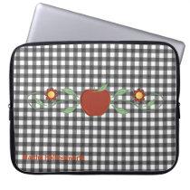 Teacher's Black & White Checkered Custom Laptop Sleeve