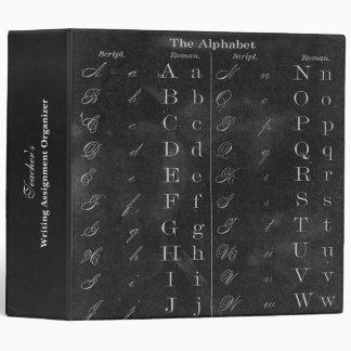 Teacher's Blackboard Alphabet Custom Organizer Vinyl Binders