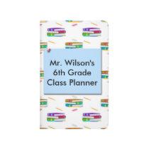 Teachers Books Blue Paper Pocket Journal