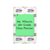 Teachers Books Green Paper Pocket Journal