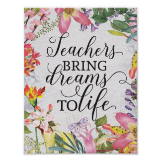 Teachers bring dreams to life classroom gift poster
