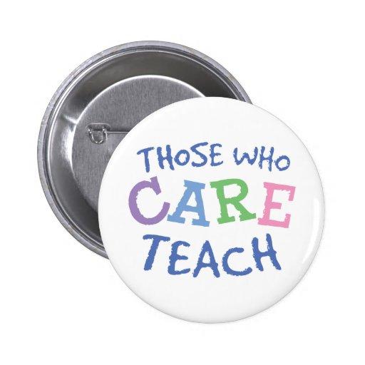 Teachers Care Button