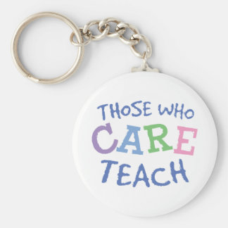 Teachers Care Keychain