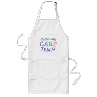 Teachers Care Long Apron