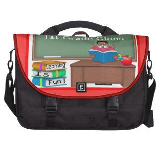 Teacher's Chalk Board Ethnic Male Laptop Bag