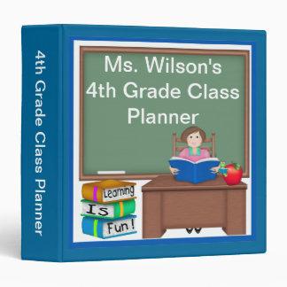 "Teacher's Chalk Board Female 1.5"" Binder"