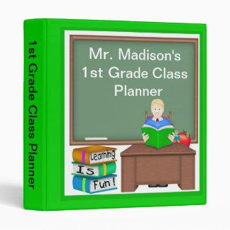 "Teacher's Chalk Board Male 1"" Binder"
