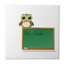 Teachers' Chalkboard Personalize Tile