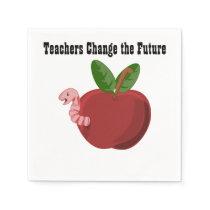 Teachers Change The Future Disposable Napkins