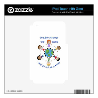 Teachers Change The World iPod Touch 4G Decal