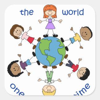 Teachers Change The World Square Sticker