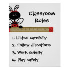 Teacher's Class Rules Poster