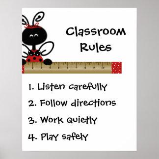 Teacher's Class Rules Poster
