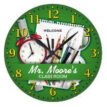 Teacher's Classroom Personalizable Clock