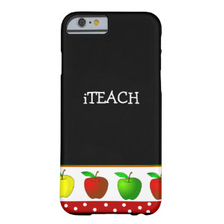 Teacher's Colorful Apples iPhone 6 case