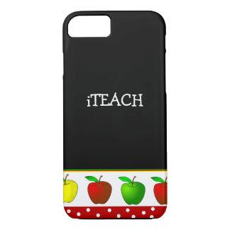 Teacher's Colorful Apples iPhone 7 case