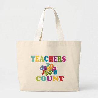 Teachers Count Tote Bags