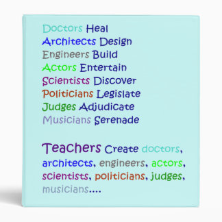 Teachers Create 3 Ring Binder