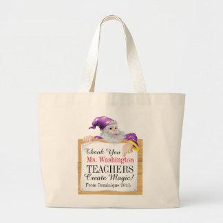 Teachers Create Magic Large Tote Bag