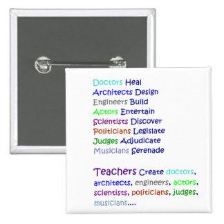 Teachers Create Pinback Buttons