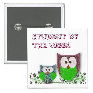 Teachers' customizable owl badge button