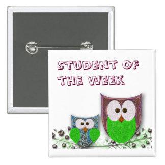 Teachers' customizable owl badge button