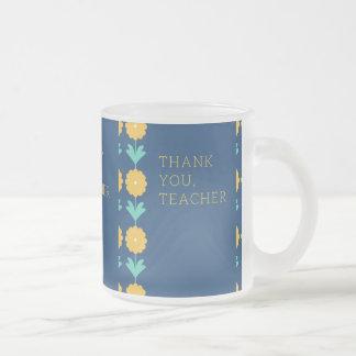 teachers day frosted glass coffee mug