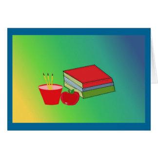 Teachers Desk Accessories Card