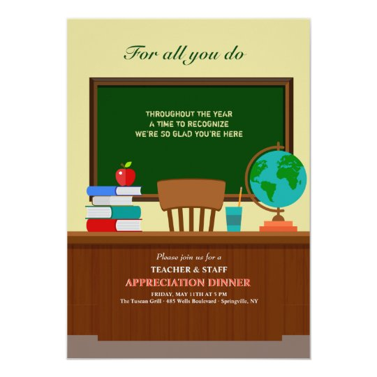 invitation for appreciation dinner