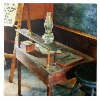 Teacher's Desk With Hurricane Lamp Tiles