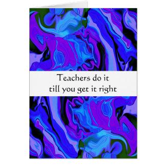 teachers do it humor card