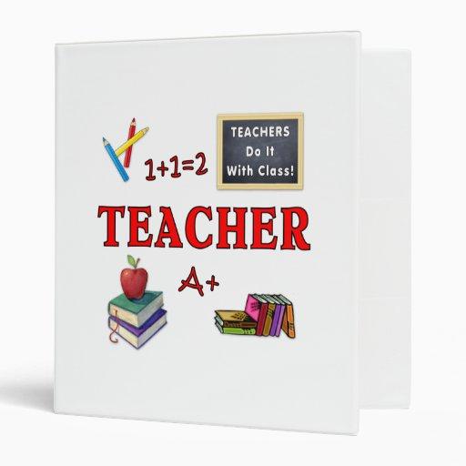 Teachers Do It With Class Vinyl Binder