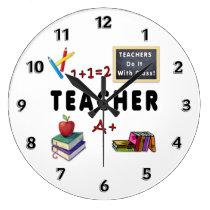 Teachers Do It With Class Large Clock