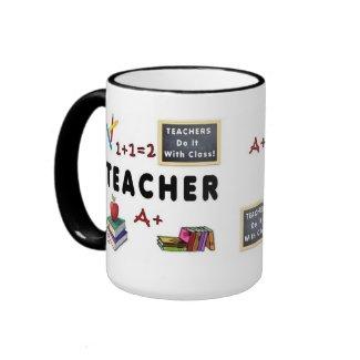Teachers Do It With Class Personalized Coffee Mugs