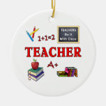Teachers Do It With Class Double-Sided Ceramic Round Christmas Ornament
