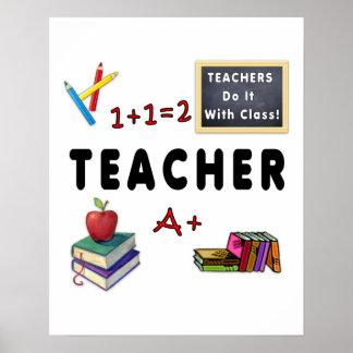 Teachers Do It With Class Poster