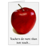 Teachers do more than just teach... card