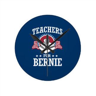 TEACHERS FOR BERNIE SANDERS ROUND CLOCK